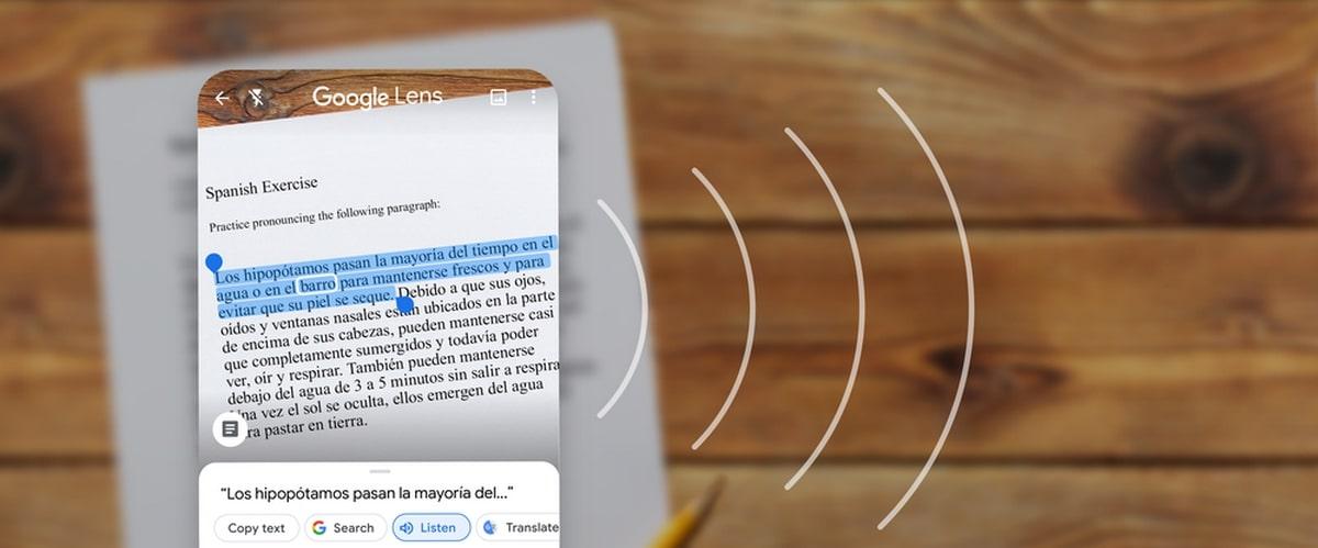 Google Lens Texto a voz